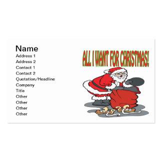 Todos lo que quiero para el navidad tarjeta de visita