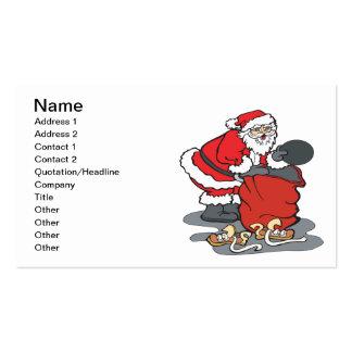 Todos lo que quiero para el navidad plantillas de tarjetas de visita