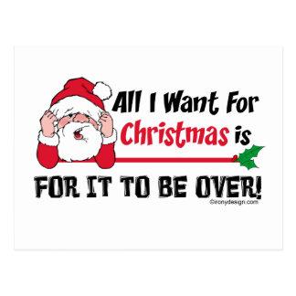 Todos lo que quiero para el navidad tarjeta postal