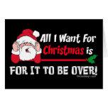 Todos lo que quiero para el navidad tarjeton