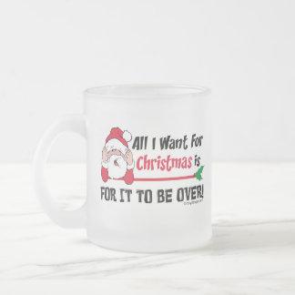 Todos lo que quiero para el navidad taza cristal mate