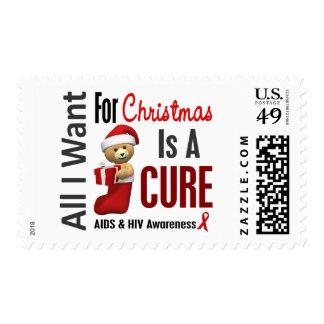 Todos lo que quiero para el SIDA del navidad Sello