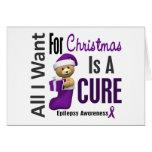 Todos lo que quiero para la epilepsia del navidad felicitacion