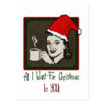 Todos lo que quiero para la postal del navidad