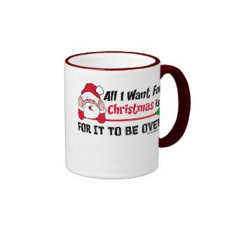 Todos lo que quiero para la taza del navidad