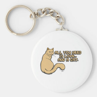 Todos lo que usted necesita son amor y gatos llaveros