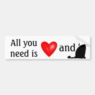 ¡Todos lo que usted necesita son amor y gatos! Pegatina Para Auto