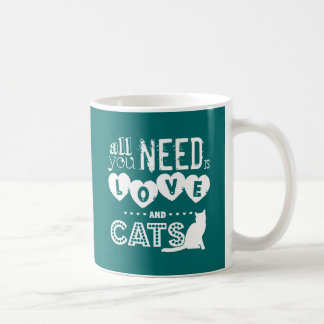 Todos lo que usted necesita son amor y gatos tazas