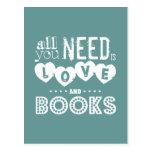 Todos lo que usted necesita son amor y libros postales