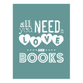 Todos lo que usted necesita son amor y libros tarjetas postales