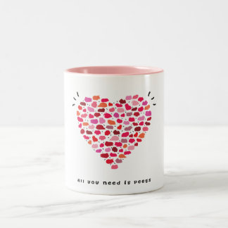 Todos lo que usted necesita son peegs taza de café de dos colores
