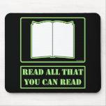 Todos lo que usted puede leer tapetes de raton