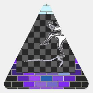 Todos los acontecimientos pegatina triangular