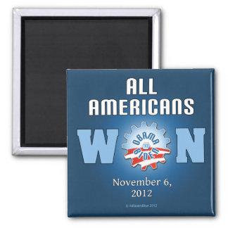 Todos los americanos ganados el 6 de noviembre de  imán cuadrado