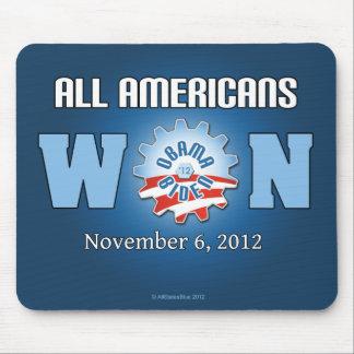 Todos los americanos ganados el 6 de noviembre de  mouse pad