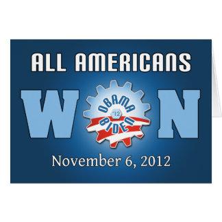 Todos los americanos ganados el 6 de noviembre de tarjeta de felicitación