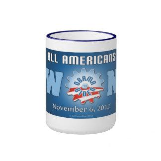 Todos los americanos ganados el 6 de noviembre de taza a dos colores