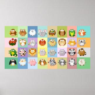 Todos los animales del círculo poster