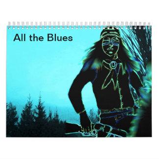 Todos los azules - callender calendario