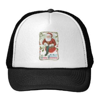 Todos los buenos deseos para felices Navidad Gorros