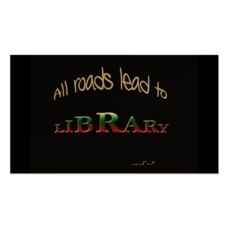 Todos los caminos llevan a la biblioteca plantilla de tarjeta de negocio