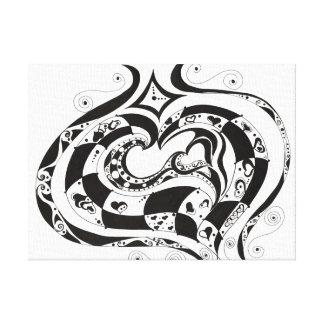 Todos los corazones lienzo envuelto para galerías
