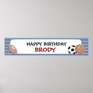 TODOS LOS deportes cumpleaños de las ESTRELLAS o b Poster