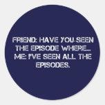 Todos los episodios pegatina redonda