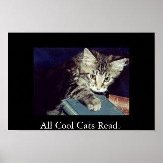 Todos los gatos frescos leídos póster