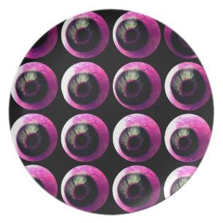 Todos los globos del ojo en usted (rosa) platos de comidas