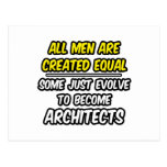 Todos los hombres son arquitectos creados del igua postales