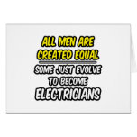 Todos los hombres son electricistas creados del ig tarjeta