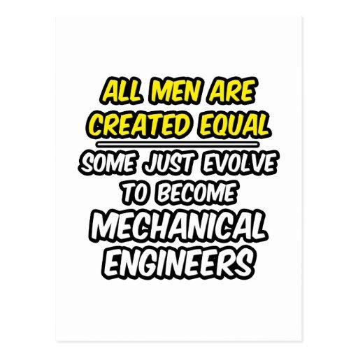 Todos los hombres son ingenieros industriales crea tarjeta postal