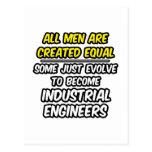 Todos los hombres son ingenieros industriales crea tarjetas postales