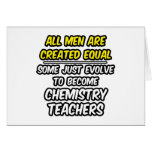 Todos los hombres son profesores creados de la quí tarjeton