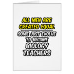 Todos los hombres son profesores de biología cread tarjeta