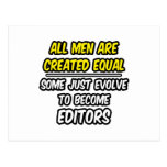 Todos los hombres son redactores creados del igual tarjeta postal