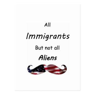 Todos los inmigrantes tarjetas postales