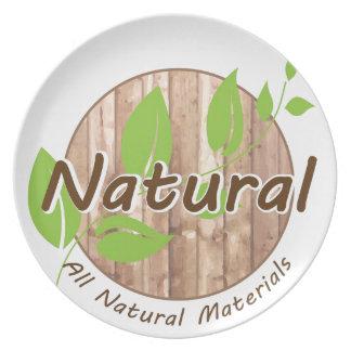 Todos los materiales naturales plato