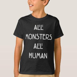 Todos los monstruos todos humanos - diseño del playera