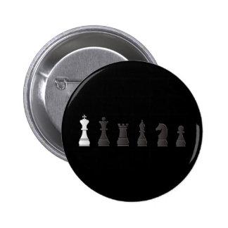 Todos los pedazos de un ajedrez blancos negros