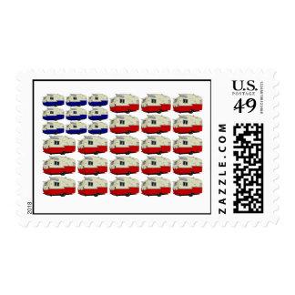 Todos los sellos americanos del remolque de Shasta