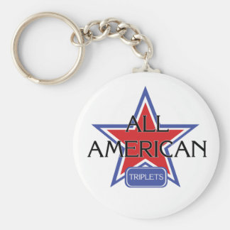Todos los tríos americanos llavero redondo tipo pin