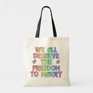 Todos merecemos la libertad para casarnos bolsas