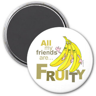 Todos mis amigos son con sabor a fruta imán de frigorifico