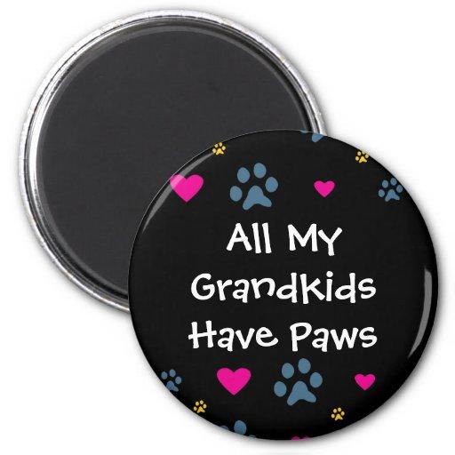 Todos mis Grandkids-Nietos tienen patas Imanes De Nevera
