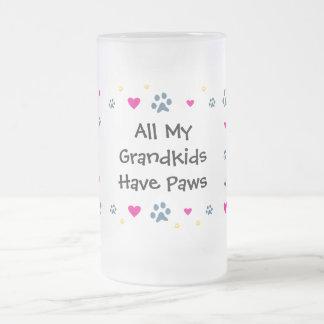 Todos mis Grandkids-Nietos tienen patas Taza De Cristal