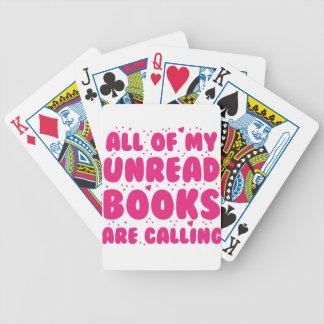 todos mis libros unread están llamando baraja de cartas bicycle