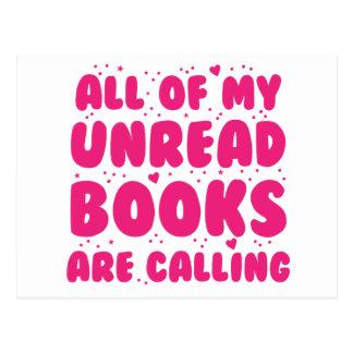 todos mis libros unread están llamando tarjeta postal