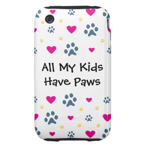 Todos mis Niño-Niños tienen patas iPhone 3 Tough Cárcasas